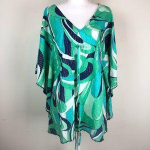 Vix Paula Hermanny Kimono Shimmer Beaded Coverup M
